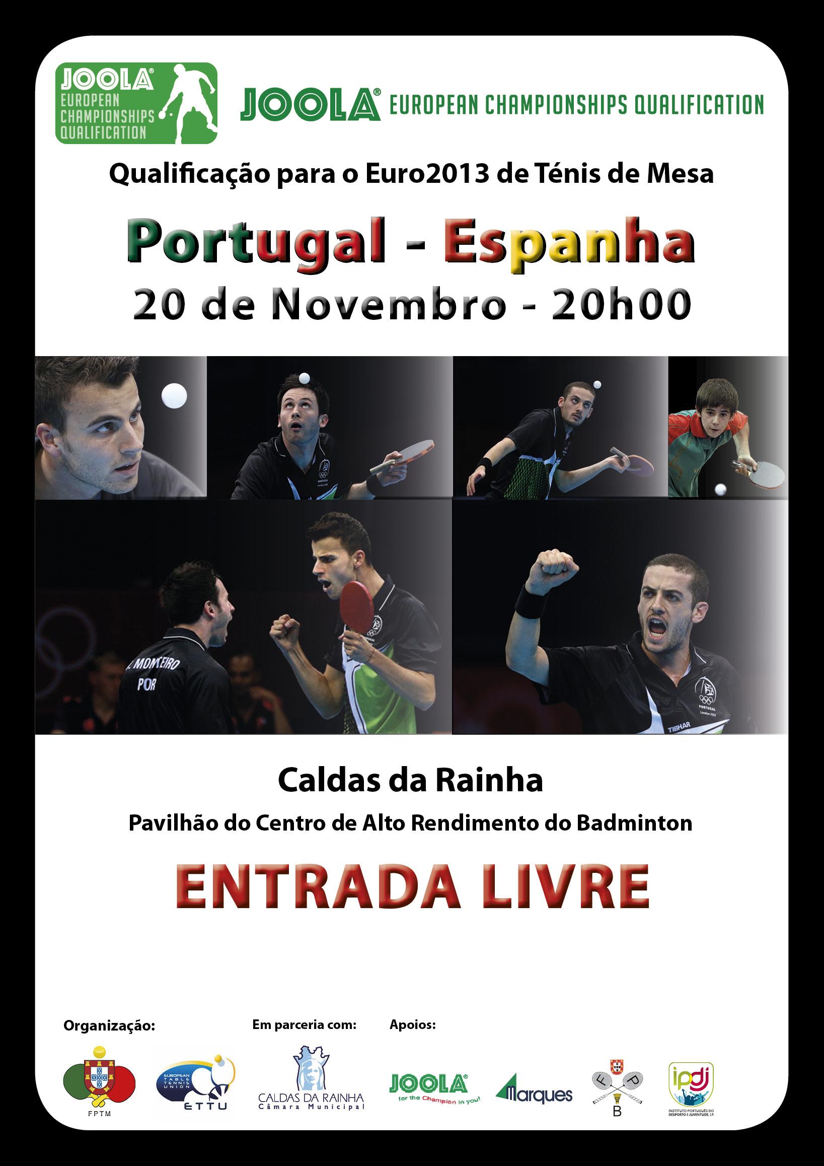 PORTUGAL – ESPANHA nas Caldas da Rainha