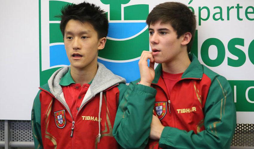 Geraldo e Chen no Campeonato do Mundo de Juniores