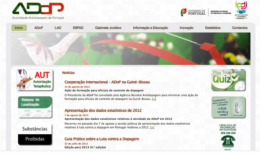 ADoP lança novo site