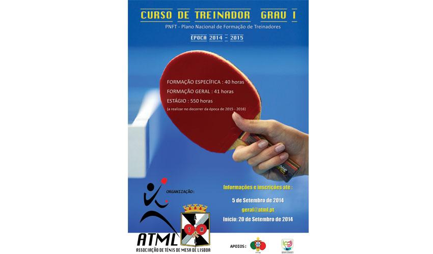 Curso de Treinadores de Ténis de Mesa – Nível I em Lisboa