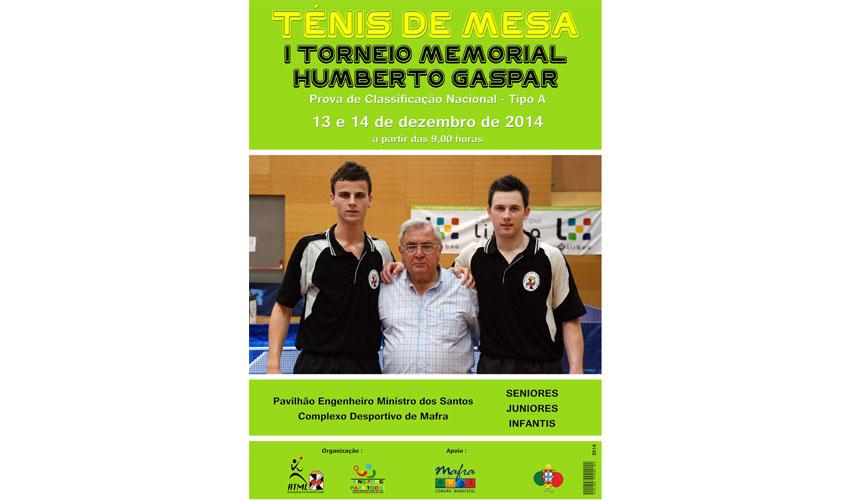 """I Torneio Nacional Memorial """"Humberto Gaspar"""" em dezembro"""