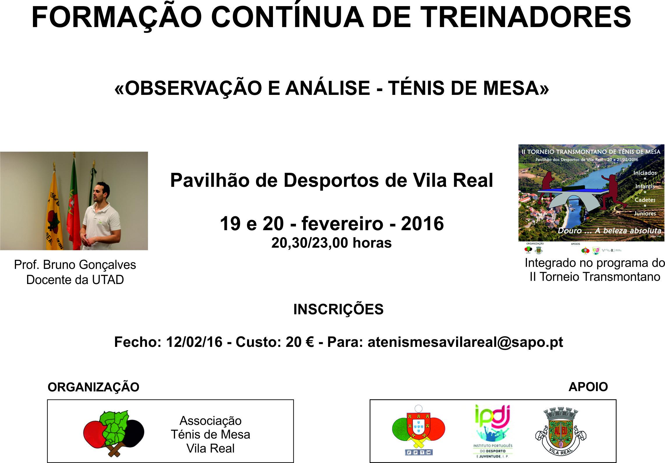 FORMAÇÃO CONTINUA DE TREINADORES EM VILA REAL