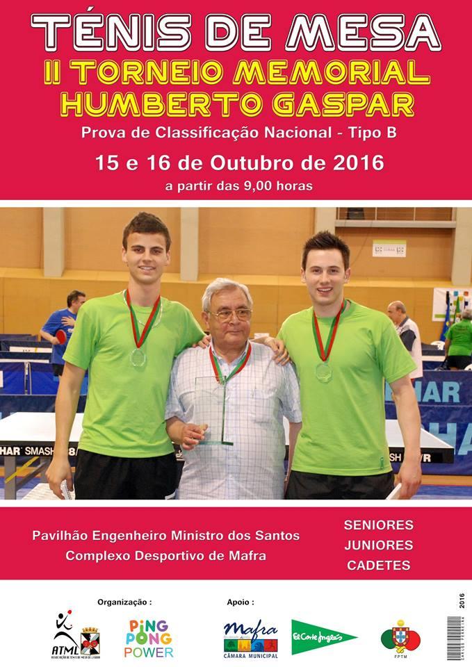 II Torneio Memorial Humberto Gaspar – resultados