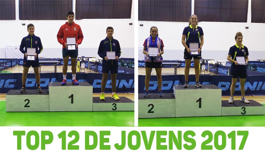 José Pedro Francisco e Raquel Martins conquistam Top 12 de Jovens