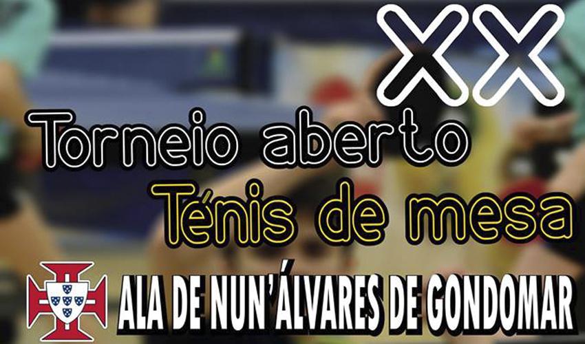 Sorteios do Torneio Aberto de Ténis de Mesa Ala Nun'Álvares