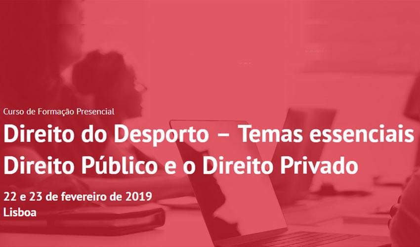 Formação sobre Direito do Desporto em Lisboa