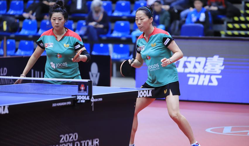 Jieni Shao e Fu Yu eliminadas nos quartos de final do Open da Hungria