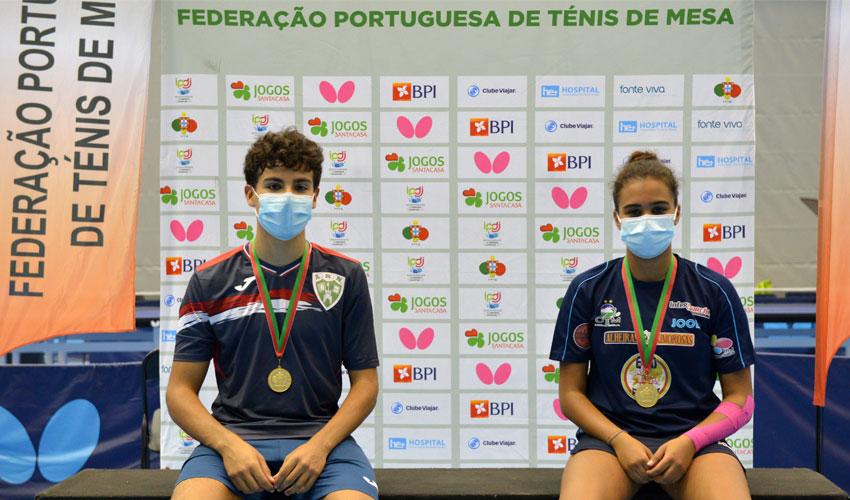 Matilde Pinto e Silas Monteiro são os campeões nacionais de cadetes