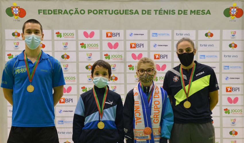 Tiago Li, Raquel Martins, Lucas Adão e Caetana Soares: Os novos campeões nacionais!