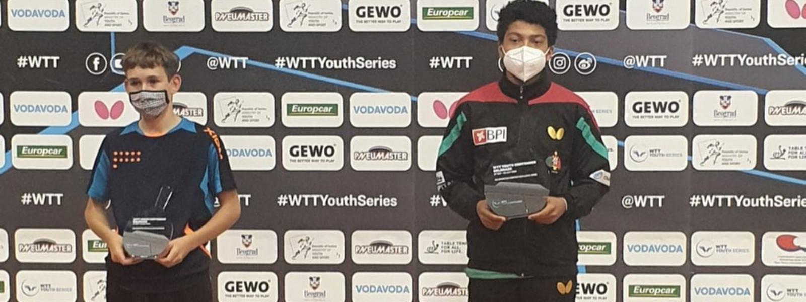 Tiago Abiodun venceu prova sub13 em Belgrado